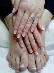 manicure i pedicure - hybrydowy french